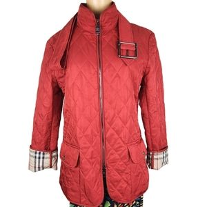Burberry London Quilted Utility Red Jacket